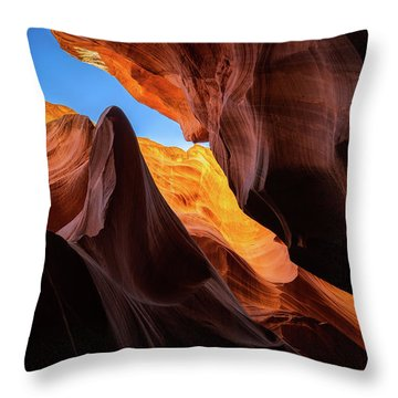 Secret Canyon Throw Pillow