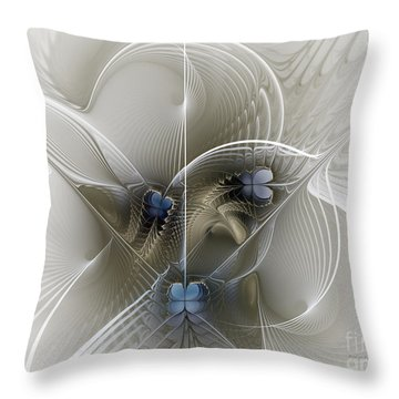 Throw Pillow featuring the digital art Secret Chambers by Karin Kuhlmann