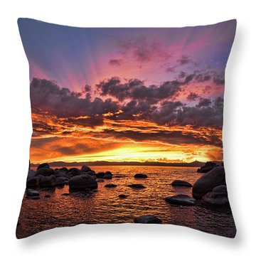 Secret Cove Sunset Throw Pillow