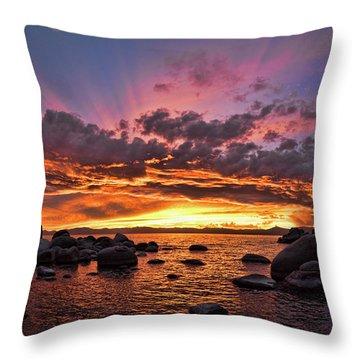 Secret Cove Sunset Throw Pillow