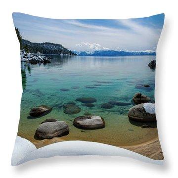 Secret Cove Winter Panorama By Brad Scott Throw Pillow