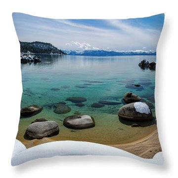 Secret Cove Winter Panorama By Brad Scott Throw Pillow