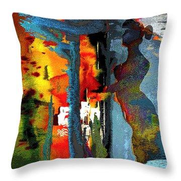 Secret Date Throw Pillow by Miki De Goodaboom
