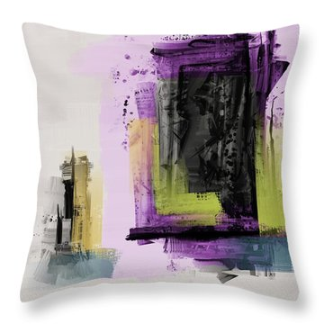 Throw Pillow featuring the mixed media Secret Door by Eduardo Tavares