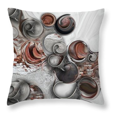 Secret Extracts From Linear Emotion Throw Pillow