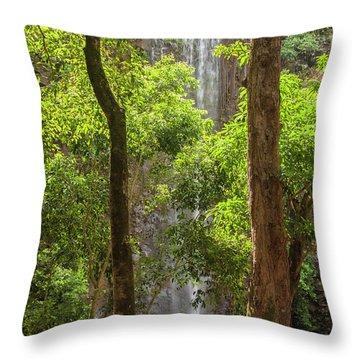 Secret Falls 3 - Kauai Hawaii Throw Pillow
