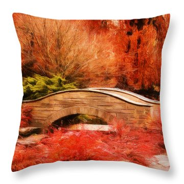Secret Footbridge Throw Pillow