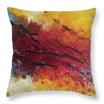 Secret Garden 2 Throw Pillow by Alessandro Andreuccetti