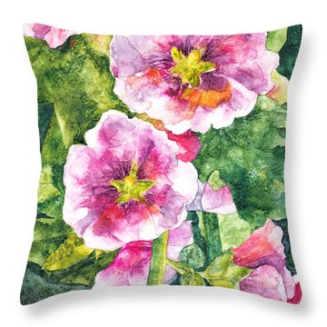 Secret Garden Throw Pillow by Casey Rasmussen White
