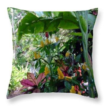 Secret Garden Cat Throw Pillow