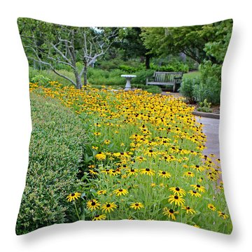 Throw Pillow featuring the photograph Secret Garden by Judy Vincent