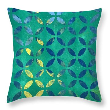Secret Garden Throw Pillow by Lisa Noneman