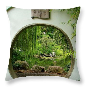 Throw Pillow featuring the photograph Secret Garden by Michele Penner