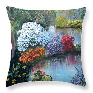Secret Garden Throw Pillow by Phyllis Kaltenbach