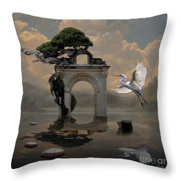 Secret Gate Throw Pillow