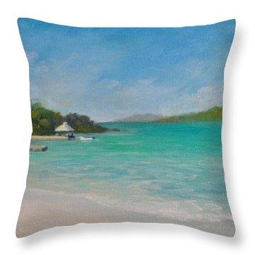 Secret Harbor Throw Pillow