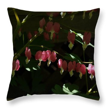 Secret Hearts Throw Pillow by Margie Avellino
