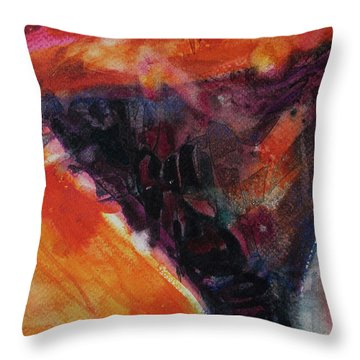 Throw Pillow featuring the painting Secret Hideaway by Kathy Braud