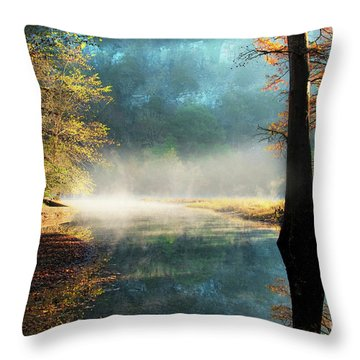 Secret Hideaway At Beavers Bend Throw Pillow