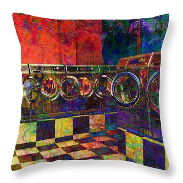 Secret Life Of Laundromats Throw Pillow