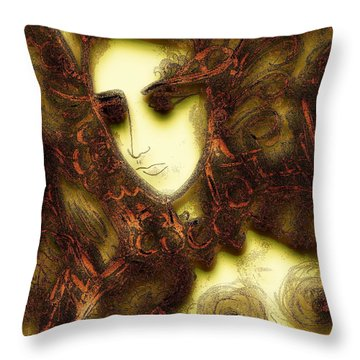 Secret Nymph Throw Pillow by Natalie Holland