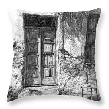 Secret Of The Closed Doors Throw Pillow