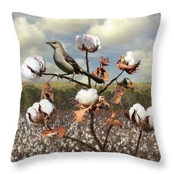 Secret Of The Mockingbird Throw Pillow