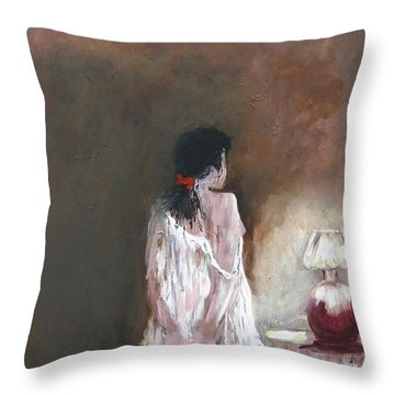 Secret Rose Throw Pillow