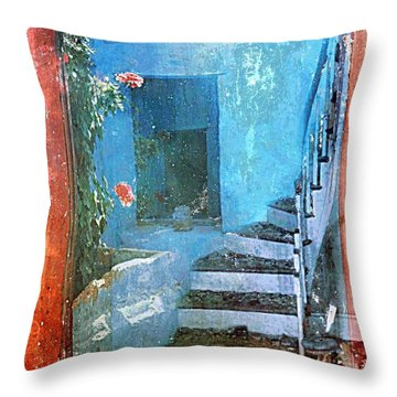 Throw Pillow featuring the digital art Secret Space by Alexis Rotella