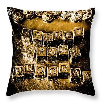 Secret Space Program Throw Pillow