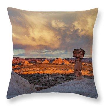 Secret Spire Sunset 1 Throw Pillow