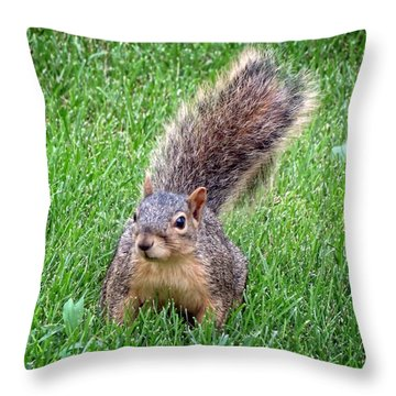 Secret Squirrel Throw Pillow