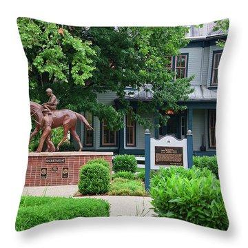 Secretariat Statue At The Kentucky Horse Park Throw Pillow