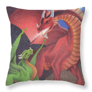 Secrets Of The Flame Throw Pillow