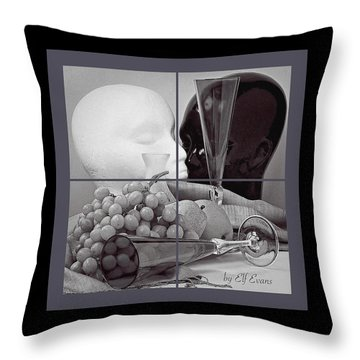 Throw Pillow featuring the photograph Sections by Elf Evans