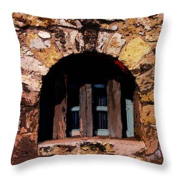 Secured--the Alamo Throw Pillow