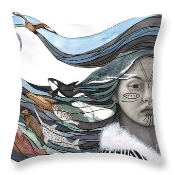 Sedna Throw Pillow by Antony Galbraith