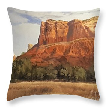Sedona Afternoon In May Throw Pillow