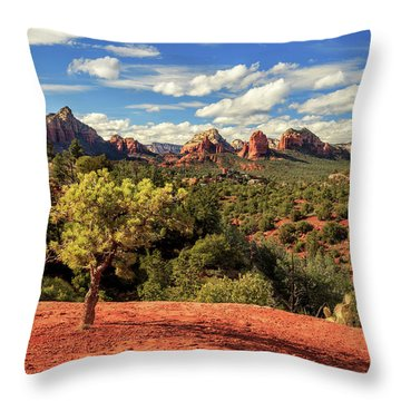 Throw Pillow featuring the photograph Sedona Afternoon by James Eddy