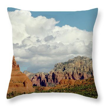 Throw Pillow featuring the photograph Sedona Arizona by Bill Gallagher