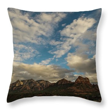 Throw Pillow featuring the photograph Sedona Arizona Redrock Country Landscape Fx1 by David Haskett
