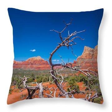Sedona Blue Throw Pillow