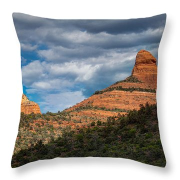 Sedona Cloudy Day Throw Pillow
