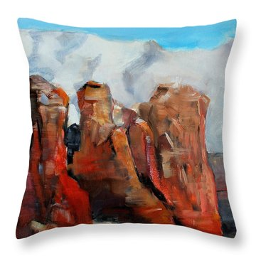 Sedona Coffee Pot Rock Painting Throw Pillow