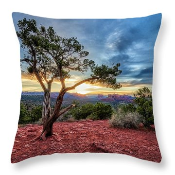 Sedona In The Morning Throw Pillow