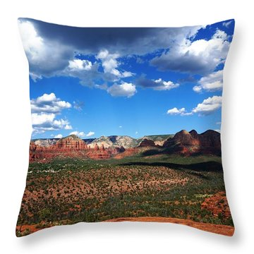 Throw Pillow featuring the photograph Sedona by Julia Ivanovna Willhite