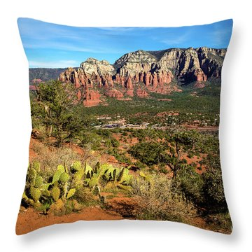Sedona Morning Throw Pillow by Jon Burch Photography