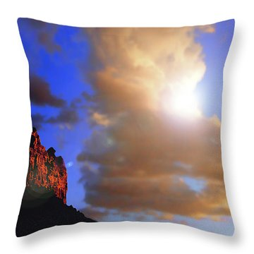 Sedona Mountain Cloud Sun Throw Pillow