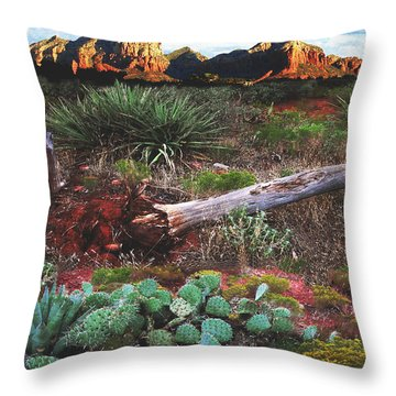 Sedona Mountain Sunrise Throw Pillow
