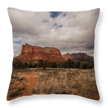 Throw Pillow featuring the photograph Sedona National Park Arizona Red Rock 2 by David Haskett